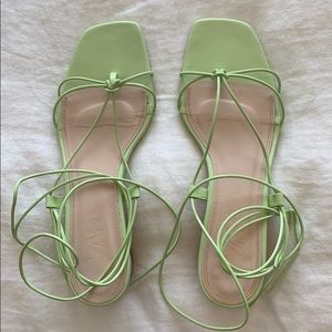 Zara ankle wrap sandals